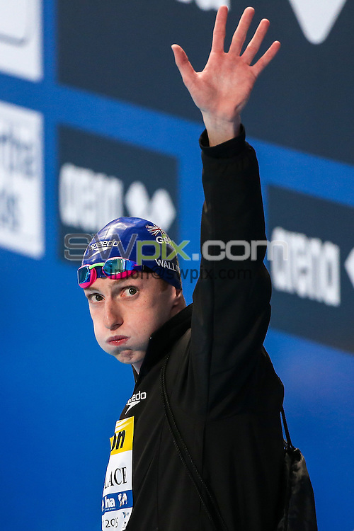 Picture by Alex Whitehead/SWpix.com - 06/08/2015 - Swimming - 16th FINA World Swimming Championships 2015 - Kazan Arena Stadium, Kazan, Russia - Great Britain's Dan Wallace.
