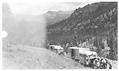 Goose #3 has broken down (broken pulley shaft) above Vance Junction and Goose #4 is coming to the rescue of the Rocky Club excursion.<br /> RGS  Vance Junction, CO  Taken by Maxwell, John W. - 7/13/1946