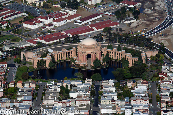 aerial photograph Palace of Fine Arts, San Francisco, California
