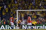 BARRANQUILLA – COLOMBIA _ 11-10-2013 / La selección colombiana de fútbol empató 3 – 3 con su similar de Chile por la decimoséptima jornada de la eliminatorias rumbo al mundial de Brasil 2014. / Radamel 'Falcao' García celebra el tercer tanto de la Selección Colombia.