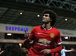 Manchester United's Marouane Fellaini celebrates scoring his sides second goal<br /> <br /> FA Cup - Preston North End vs Manchester United  - Deepdale - England - 16th February 2015 - Picture David Klein/Sportimage