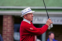 Tommy Horton, Professional Golfer, England, UK. Taken August 1998 at British Seniors Championship held at Royal Portrush. Ref: 199808019.<br /> <br /> Copyright Image from Victor Patterson,<br /> 54 Dorchester Park, <br /> Belfast, UK, BT9 6RJ <br /> <br /> t1: +44 28 9066 1296 (from Rep of Ireland 048 90661296)<br /> t2: +44 28 9002 2446 (from Rep of Ireland 048 9002 2446)<br /> <br /> m: +44 7802 353836<br /> <br /> e: victorpatterson@me.com<br /> www.victorpatterson.com<br /> <br /> Please see my Terms and Conditions of Use at www.victorpatterson.com. It is IMPORTANT that you familiarise yourself with them.<br /> <br /> Images used on the Internet must be visibly watermarked i.e. © Victor Patterson<br /> within the body of the image and copyright metadata must not be deleted. Images <br /> used on the Internet have a size restriction of 4kbs and will be chargeable at current<br />  NUJ rates unless agreed otherwise.<br /> <br /> This image is only available for the use of the download recipient i.e. television station, newspaper, magazine, book publisher, etc, and must not be passed on to any third <br /> party. It is also downloaded on condition that each and every usage is notified within 7 days to victorpatterson@me.com<br /> <br /> The right of Victor Patterson to be identified as the author is asserted in accordance with The Copyright Designs And Patents Act (1988). All moral rights are asserted.