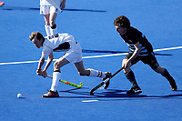 Action from the Rankin Cup final between King's High School and Timaru Boys High at the Rankin Cup and India Shield 2019 Secondary School Hockey Tournament, Nga Puna Wai Sports Hub, Christchurch, Saturday 07 September 2019. Photo: Martin Hunter/Hockey NZ