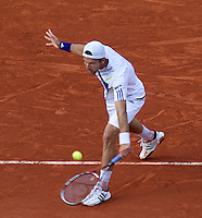 Jurgen Melzer (AUS) (22) against Novak Djokovic (SRB) (3) in the quarter finals of the men's singles. Jurgen Melzer beat Novak Djokovic .3-6 2-6 6-2 7-6 6-4..Tennis - French Open - Day 11 - Wed 02 June 2010 - Roland Garros - Paris - France..© FREY - AMN Images, 1st Floor, Barry House, 20-22 Worple Road, London. SW19 4DH - Tel: +44 (0) 208 947 0117 - contact@advantagemedianet.com - www.photoshelter.com/c/amnimages