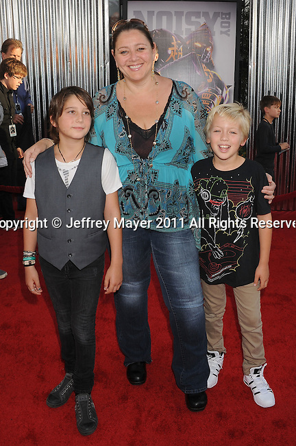 "UNIVERSAL CITY, CA - OCTOBER 02: Camryn Manheim attends the ""Real Steel"" Los Angeles Premiere at Gibson Amphitheatre on October 2, 2011 in Universal City, California."