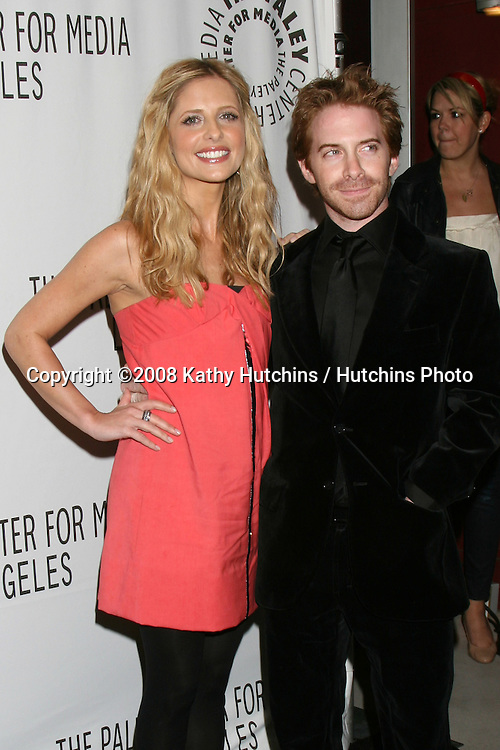 """Sarah Michelle Gellar & Seth Green.""""Buffy the Vampire Slayer"""" Reunion- PaleyFest08.Paley Center for Media's 24th William S. Paley Television Festival.ArcLight Theater.Los Angeles, CA.March 20, 2008.©2008 Kathy Hutchins / Hutchins Photo"""