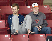 Isaac MacLeod (BC - 7), Kevin Pratt (BC - Manager) - The Boston College Eagles defeated the visiting St. Lawrence University Saints 6-3 (EN) in their NCAA Quarterfinal match on Saturday, March 10, 2012, at Kelley Rink in Conte Forum in Chestnut Hill, Massachusetts.