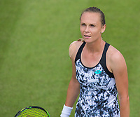 Magdalena Rybarikova in action<br /> <br /> Photographer Alex Dodd/CameraSport<br /> <br /> Tennis - WTA World Tour -Nature Valley Open Tennis Tournament - Day 3 - Wednesday 13th June 2018 - Nottingham Tennis Centre - Nottingham<br /> <br /> World Copyright &copy; 2018 CameraSport. All rights reserved. 43 Linden Ave. Countesthorpe. Leicester. England. LE8 5PG - Tel: +44 (0) 116 277 4147 - admin@camerasport.com - www.camerasport.com