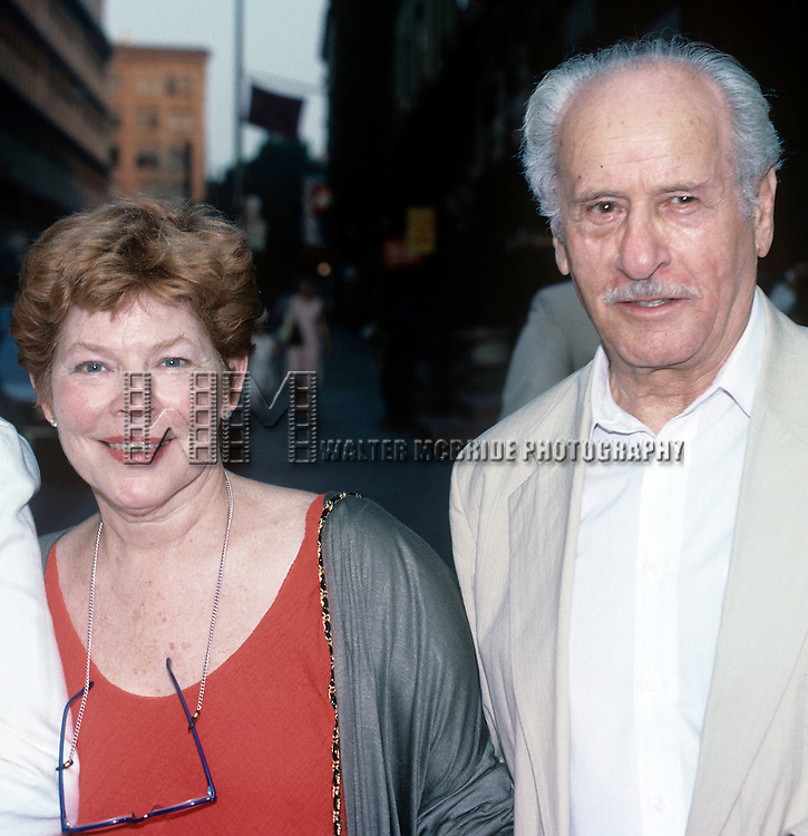 Eli Wallach and Anne Jackson in New York City, 1988.