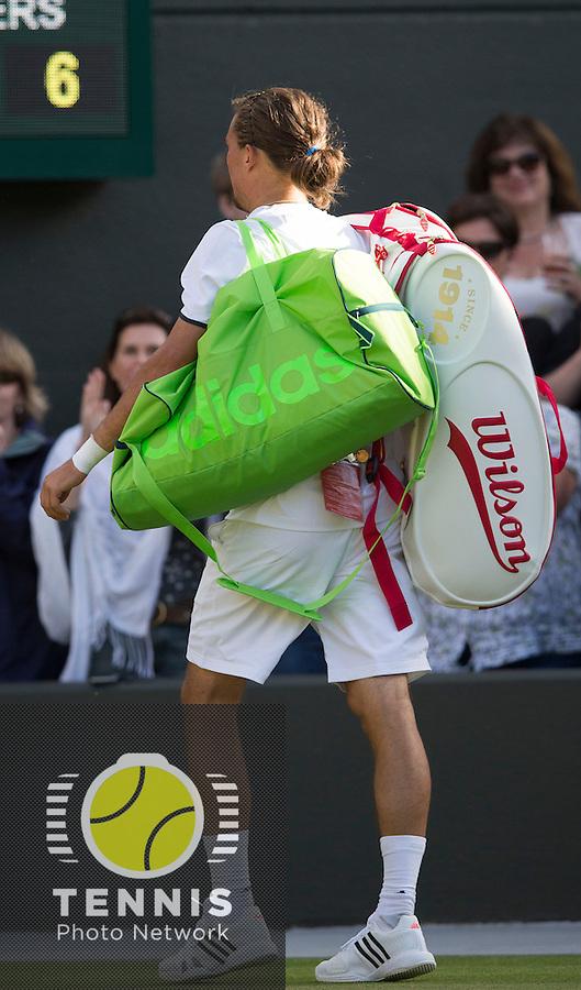 ALEXANDR DOLGOPOLOV (UKR)<br /> <br /> The Championships Wimbledon 2014 - The All England Lawn Tennis Club -  London - UK -  ATP - ITF - WTA-2014  - Grand Slam - Great Britain -  27th June 2014. <br /> <br /> © Tennis Photo Network