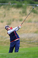 Ally McDonald of Team USA on the 2nd fairway during Day 2 Fourball at the Solheim Cup 2019, Gleneagles Golf CLub, Auchterarder, Perthshire, Scotland. 14/09/2019.<br /> Picture Thos Caffrey / Golffile.ie<br /> <br /> All photo usage must carry mandatory copyright credit (© Golffile | Thos Caffrey)