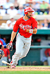 9 March 2011: Philadelphia Phillies' outfielder Raul Ibanez in action during a Spring Training game against the Detroit Tigers at Joker Marchant Stadium in Lakeland, Florida. The Phillies defeated the Tigers 5-3 in Grapefruit League play. Mandatory Credit: Ed Wolfstein Photo