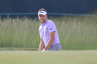 Ian Poulter (ENG) in a bunker at the 8th green during Friday's Round 2 of the 118th U.S. Open Championship 2018, held at Shinnecock Hills Club, Southampton, New Jersey, USA. 15th June 2018.<br /> Picture: Eoin Clarke | Golffile<br /> <br /> <br /> All photos usage must carry mandatory copyright credit (&copy; Golffile | Eoin Clarke)
