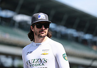 May 26, 2017; Indianapolis, IN, USA; IndyCar Series driver JR Hildebrand during Carb Day for the 101st Running of the Indianapolis 500 at Indianapolis Motor Speedway. Mandatory Credit: Mark J. Rebilas-USA TODAY Sports