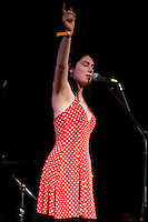 Crystal Thomas and The Flowers of Evil performing at the Winterlong Benefit Concert for the Sophia Mundie Steiner School, held at the Thornbury Theatre, 30 August 2009.