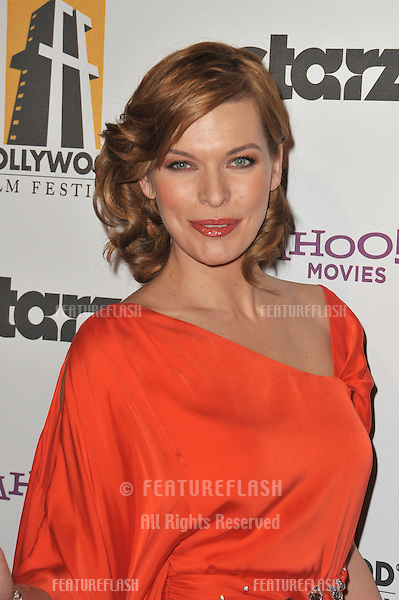Milla Jovovich at the 14th Annual Hollywood Awards Gala at the Beverly Hilton Hotel..October 25, 2010  Beverly Hills, CA.Picture: Paul Smith / Featureflash