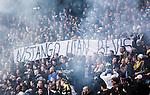 ***BETALBILD***  <br /> Solna 2015-05-31 Fotboll Allsvenskan AIK - Helsingborgs IF :  <br /> AIK:s supportrar med en banderoll under matchen mellan AIK och Helsingborgs IF <br /> (Foto: Kenta J&ouml;nsson) Nyckelord:  AIK Gnaget Friends Arena Allsvenskan Helsingborg HIF supporter fans publik supporters