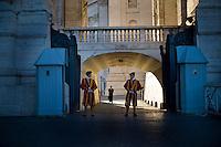 Roma, 02 Marzo, 2013. Il Vaticano si prepara ad organizzare il grande evento del conclave che porterà alla elezione del nuovo Papa.