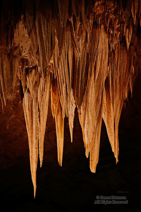 Stalactites, Carlsbad Caverns, New Mexico