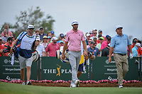 Dustin Johnson (USA) heads down 1 during round 4 of The Players Championship, TPC Sawgrass, at Ponte Vedra, Florida, USA. 5/13/2018.<br /> Picture: Golffile | Ken Murray<br /> <br /> <br /> All photo usage must carry mandatory copyright credit (&copy; Golffile | Ken Murray)