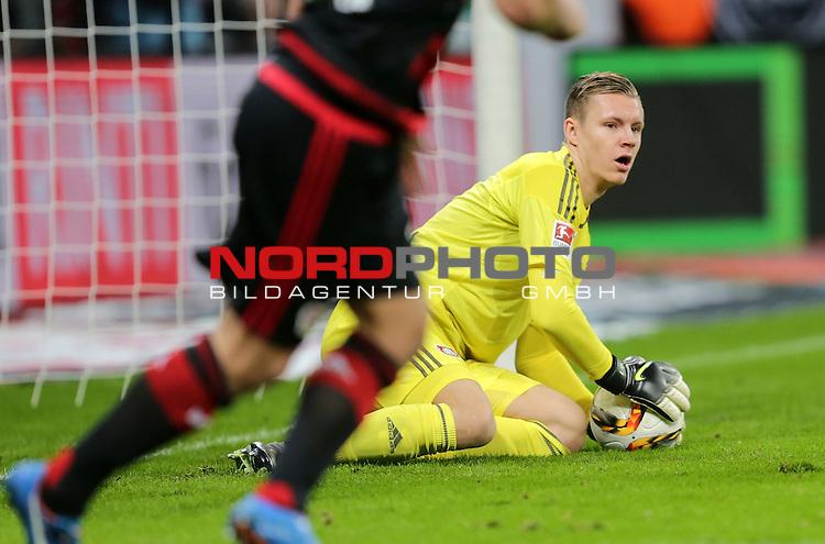 29.11.2015, BayArena, Leverkusen, GER, 1.FBL, Bayer 04 Leverkusen vs FC Schalke 04<br /> Torwart Bernd Leno (Leverkusen)<br /> <br /> Foto &copy; nordphoto /  Bratic