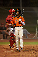 AZL Giants Orange Javeyan Williams (34) during a game against the AZL Angels at Giants Baseball Complex on June 17, 2019 in Scottsdale, Arizona. AZL Giants Orange defeated AZL Angels 8-4. (Zachary Lucy/Four Seam Images)