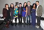 Juliana Nash, Julia Jordan, Mandy Greenfield, Trip Cullman, Karen Olivo, John Ellison Conlee, Rebecca Naomi Jones and Will Swenson attending the Opening Night Performance After Party for the Manhattan Theatre Club's 'Murder Ballad' at Suite 55 in New York City on 11/15/2012