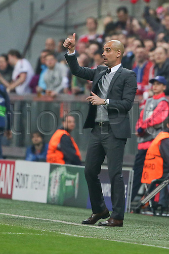 05.04.2016. Munich, Germany. UEFA Champions League FC Bavaria Munich versus Benfica Lisbon. Trainer Josep Guardiola (Bayern Munich)