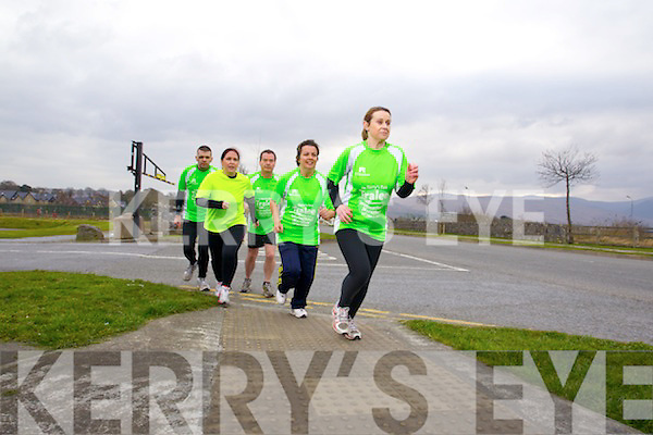 Runners in the Tralee International Marathon Liam Horan, Emma Kinane Jim McNiece Grainne Power and Anne Kelliher.