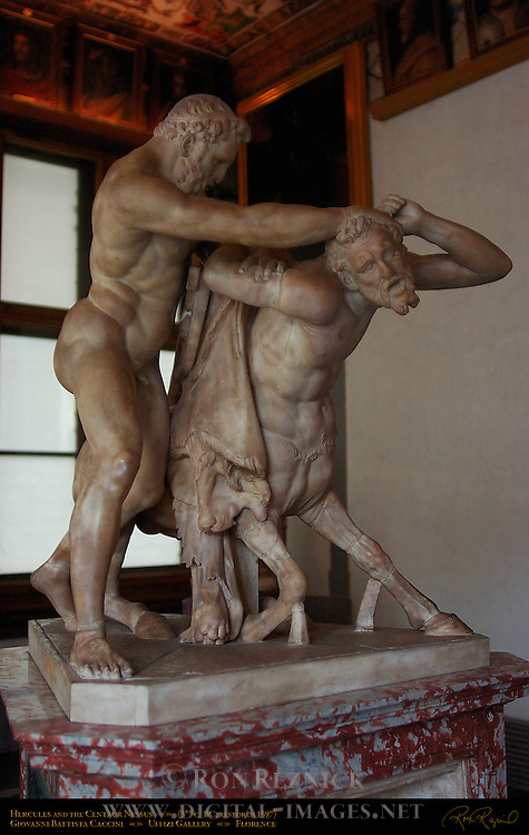 Hercules and the Centaur Nessus 3rd c BC Roman Uffizi Gallery Florence
