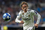 Luka Modric of Real Madrid during the match between Real Madrid vs Viktoria Plzen of UEFA Champions League, Group Stage, Group G, date 3, 2018-2019 season. Santiago Bernabeu Stadium. Madrid, Spain - 23 OCT 2018.