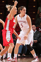 STANFORD, CA - NOVEMBER 20:  Michelle Harrison of the Stanford Cardinal during Stanford's 84-46 win over the University of New Mexico on November 20, 2008 at Maples Pavilion in Stanford, California.