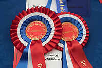 Stirling Bull Sales 2018<br /> Rosettes at the show at the Stirling Bull Sales<br /> &copy;Tim Scrivener Photographer 07850 303986<br /> ....Covering Agriculture In The UK....