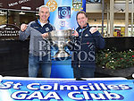 Ray Finlay and Paul Winston with the Sam Maguire cup when it visited Southgate Shopping Centre with St Colmcilles GFC. Photo:Colin Bell/pressphotos.ie