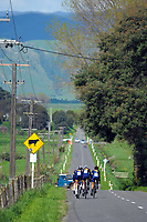 Auckland Grammar Senior B u20 boys in action during the NZ Schools Road Cycling championship day one team time trials at Koputaroa Road near Levin, New Zealand on Saturday, 30 September 2017. Photo: Dave Lintott / lintottphoto.co.nz