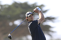 Beau Hossler (USA) tees off the 8th tee of Monterey Peninsula CC during Saturday's Round 3 of the 2018 AT&amp;T Pebble Beach Pro-Am, held over 3 courses Pebble Beach, Spyglass Hill and Monterey, California, USA. 10th February 2018.<br /> Picture: Eoin Clarke | Golffile<br /> <br /> <br /> All photos usage must carry mandatory copyright credit (&copy; Golffile | Eoin Clarke)