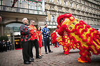 05 February 2019 - London - To mark Chinese New Year today, for the first time ever the iconic Amba Hotel Charing Cross. Photo Credit: ALPR/AdMedia