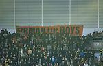 ***BETALBILD***  <br /> Stockholm 2015-09-27 Fotboll Allsvenskan Hammarby IF - AIK :  <br /> AIK:s supportrar med en banderoll med texten &quot;Firman Boys&quot; under matchen mellan Hammarby IF och AIK <br /> (Foto: Kenta J&ouml;nsson) Nyckelord:  Fotboll Allsvenskan Tele2 Arena Hammarby HIF Bajen AIK Derby supporter fans publik supporters banderoll huligan huliganer
