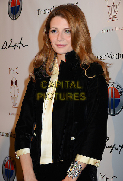 Mischa Barton.Mr. C Beverly Hills Hosts Domingo Zapata's Oscar Art Show at Mr. C Beverly Hills, California, USA..February 22nd, 2012.half length black jacket yellow top.CAP/ADM/BT.©Birdie Thompson/AdMedia/Capital Pictures.