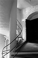 Akershus staircase, Oslo, Norway.<br /> <br /> Canon EOS 1, 50mm lens, Kodak TMAX 400 film