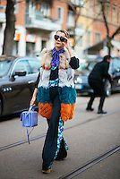 Natalie Joos at Milan Fashion Week (Photo by Hunter Abrams/Guest of a Guest)