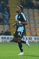 Wycombe Wanderers Gozie Ugwu during the Sky Bet League 2 match between Mansfield Town and Wycombe Wanderers at the One Call Stadium, Mansfield, England on 31 October 2015. Photo by Garry Griffiths.