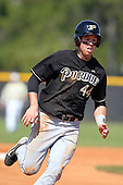 Tyler Spillner #44 of the Purdue Boilermakers during a game vs the Pittsburgh Panthers at the Big East-Big Ten Challenge at Walter Fuller Complex in St. Petersburg, Florida;  February 20, 2011.  Purdue defeated Pitt 5-3.  Photo By Mike Janes/Four Seam Images