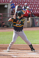 Beloit Snappers catcher Jose Chavez (15) at bat during a Midwest League game against the Wisconsin Timber Rattlers on May 30th, 2015 at Fox Cities Stadium in Appleton, Wisconsin. Wisconsin defeated Beloit 5-3 in the completion of a game originally started on May 29th before being suspended by rain with the score tied 3-3 in the sixth inning. (Brad Krause/Four Seam Images)