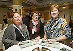 Mary Jo Duffy, and Jane Mc Goldrick with Silla Lernihan of The Clare Champion at the announcement of the winners of the annual Clare Champion Christmas Shop Window Display competition in the Old Ground hotel, Ennis. Photograph by John Kelly.