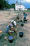Pesquisas arqueológicas em Santa Cruz de Cabrália. Bahia. 1999. Foto de Juca Martins.