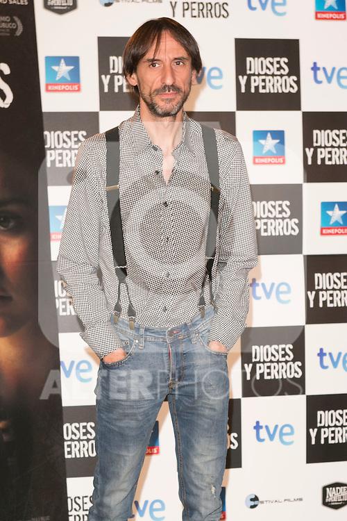 """Juan Codina attends the """"DIOSES Y PERROS """" Movie presentation at Kinepolis Cinema in Madrid, Spain. October 6, 2014. (ALTERPHOTOS/Carlos Dafonte)"""