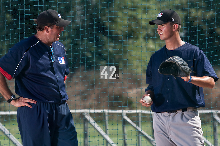Baseball - MLB Academy - Tirrenia (Italy) - 19/08/2009 - Bruce Hurst, Quentin Becquey (France)