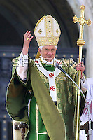 Pope Benedict XVI  is seen during a solemn celebration for the conclusion of the Second Synod for Africa at Saint Peter's Basilica in Vatican City, 25 October 2009.