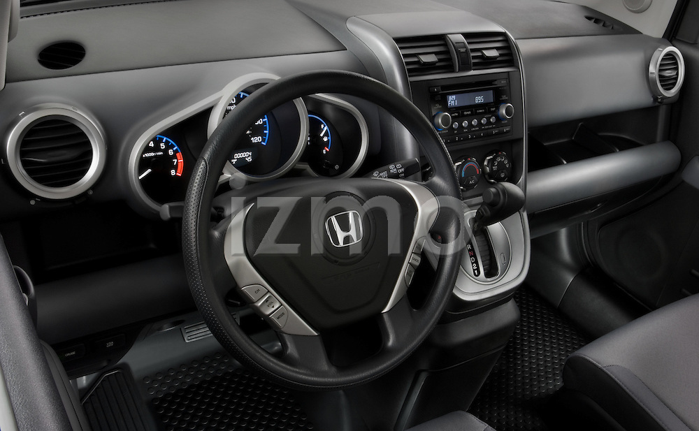 High angle dashboard view of a  2008 Honda Element EX SUV